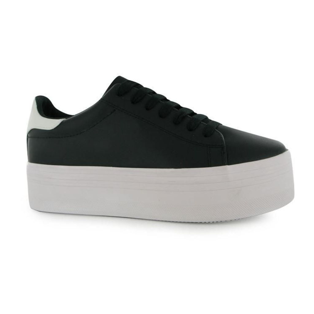 Jeffrey Campbell Play Stan Leather Look Trainers