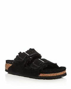 Birkenstock Women's Arizona Suede & Shearling Slide Sandals