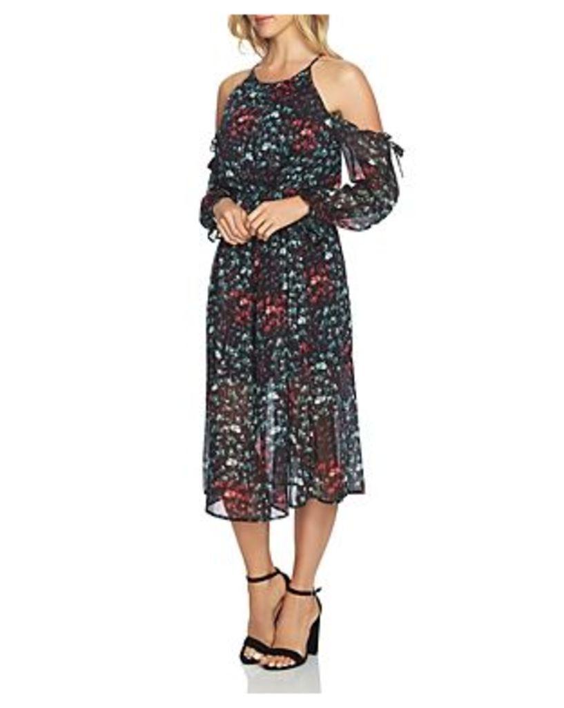 1.state Cold-Shoulder Midi Dress