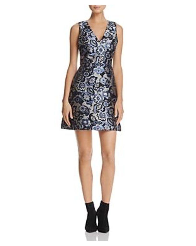 Alice + Olivia Malin Fit-and-Flare Dress