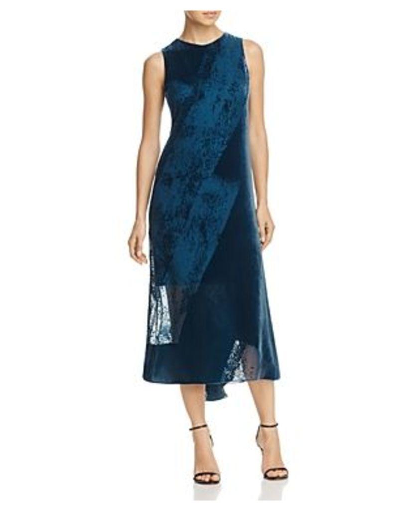 Donna Karan Sleeveless Burnout-Velvet Dress