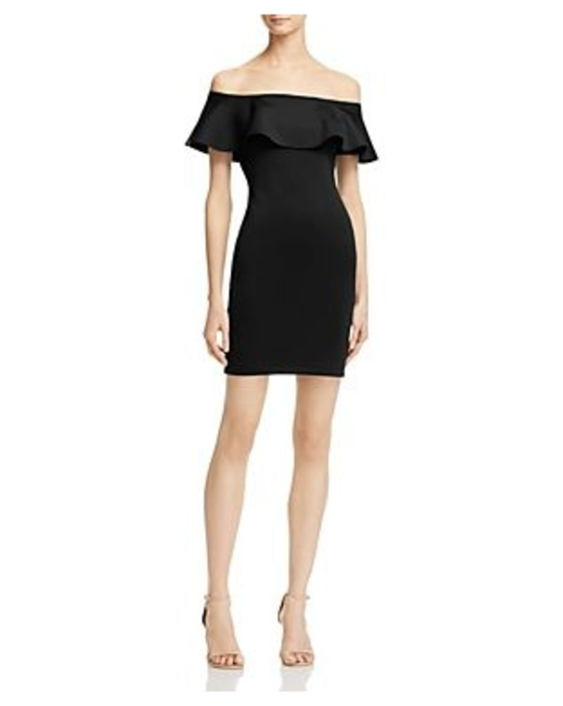 Guess Tori Off-the-Shoulder Ruffle Dress