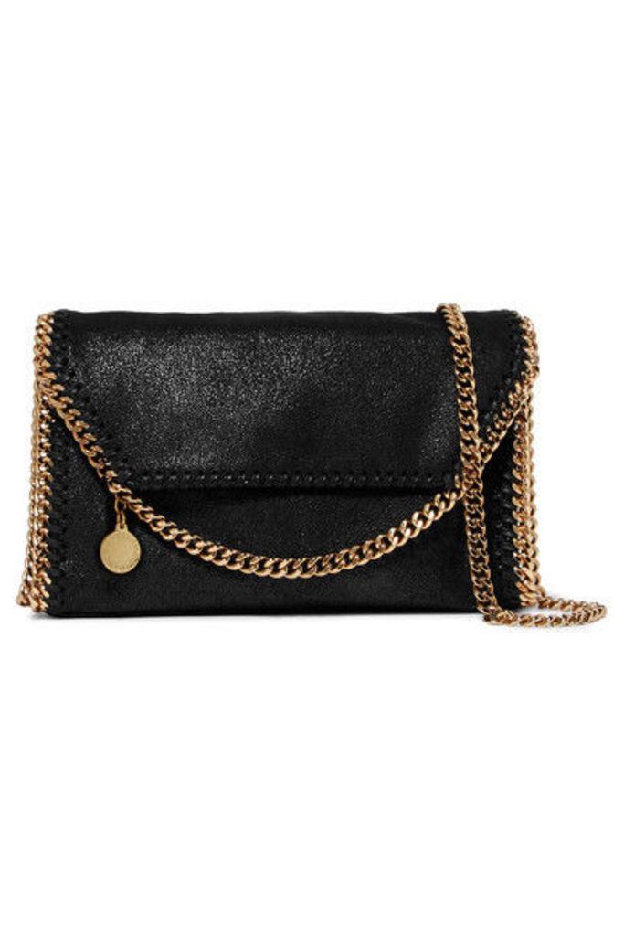 Stella McCartney - The Falabella Faux Brushed-leather Shoulder Bag - Black