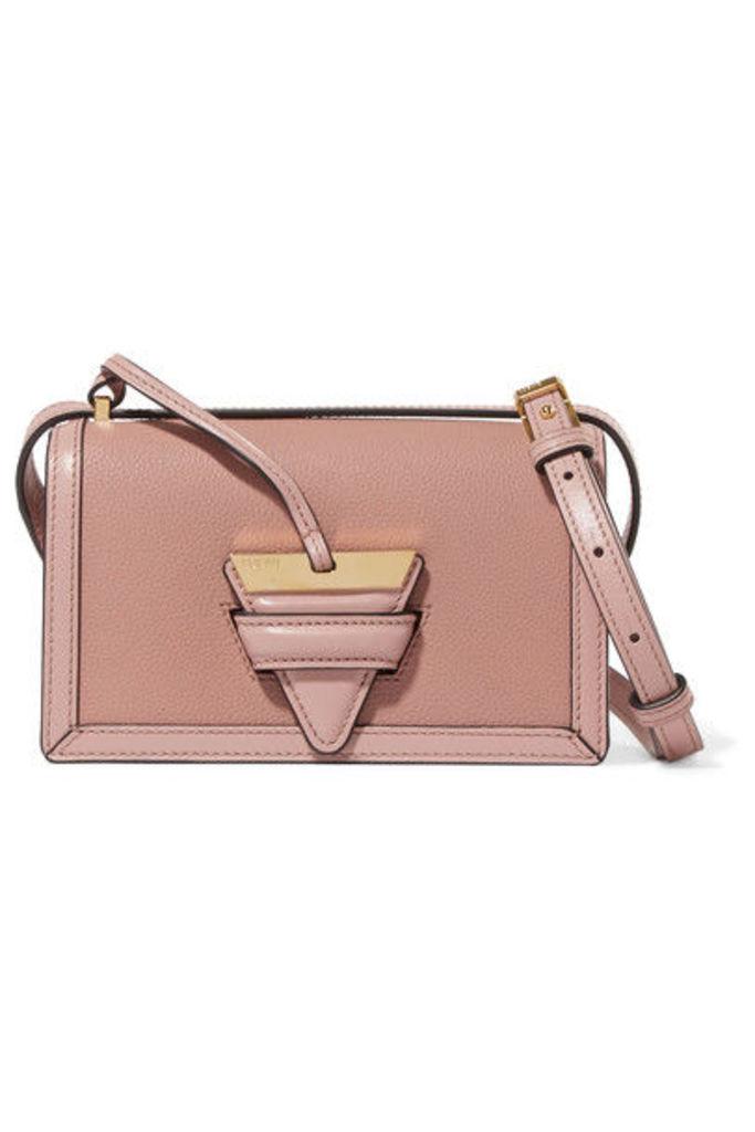 Loewe - Barcelona Small Textured-leather Shoulder Bag - Blush