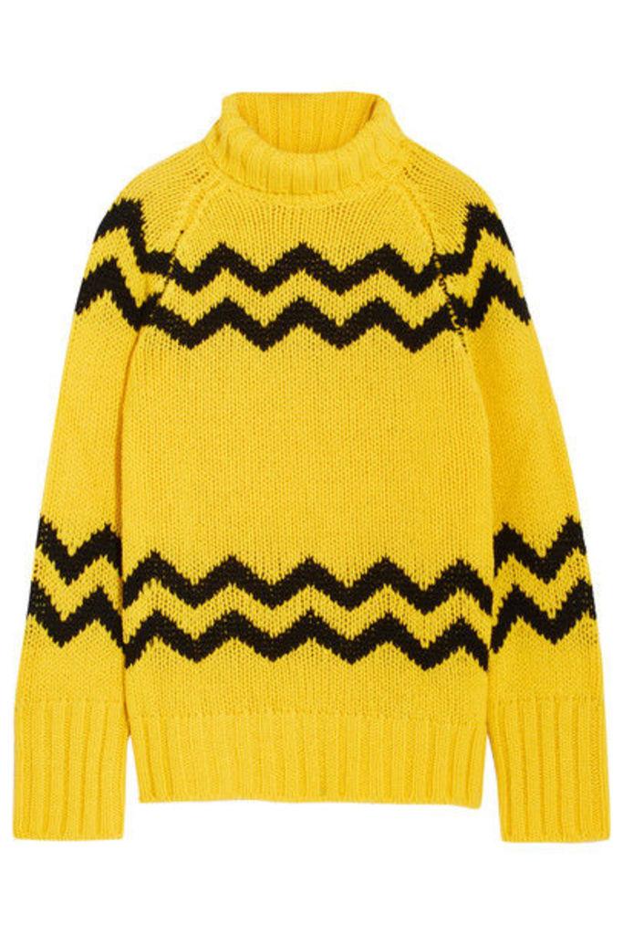Joseph - Intarsia Wool Turtleneck Sweater - Yellow