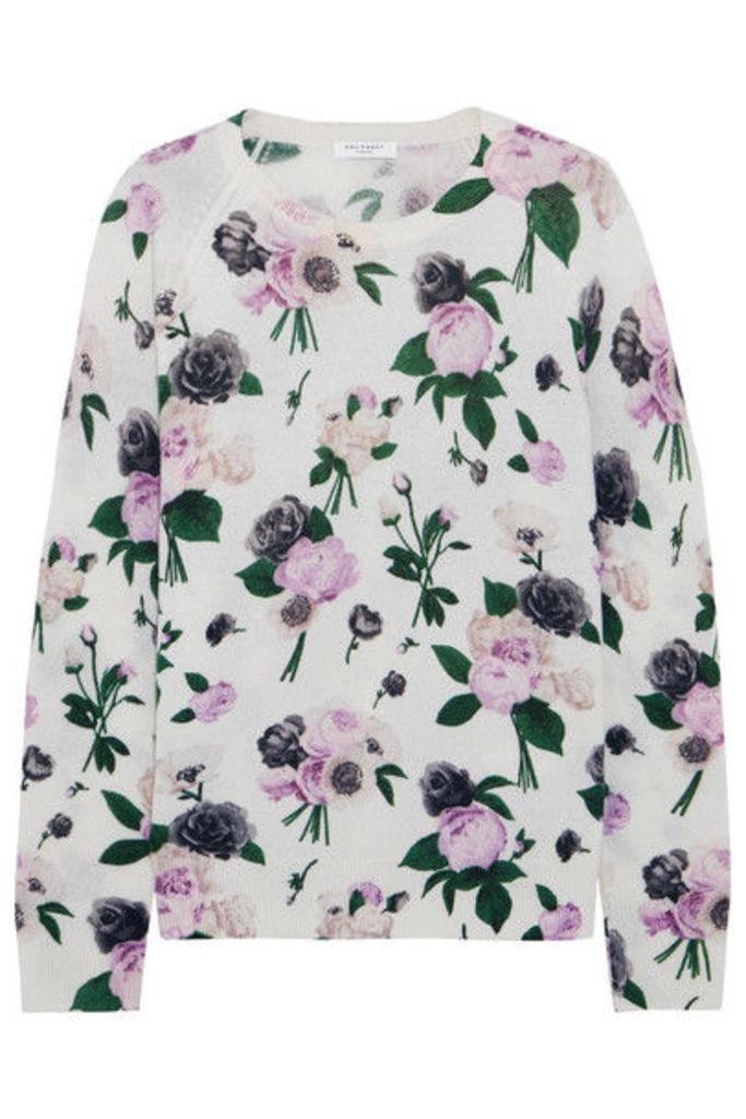 Equipment - Sloane Floral-print Cashmere Sweater - White