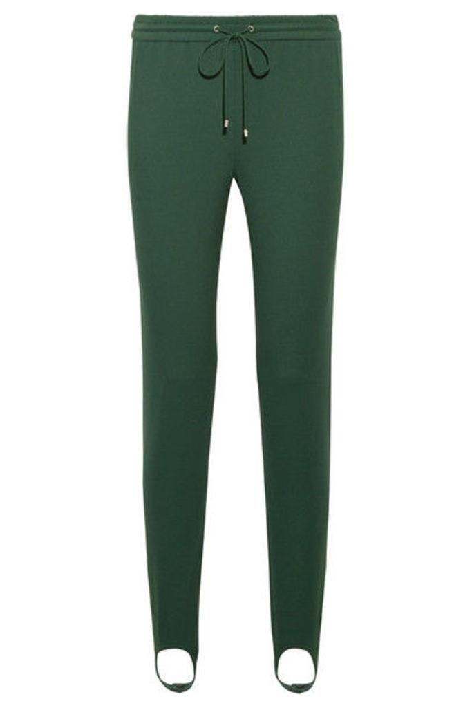 Theory - Stretch-ponte Track Pants - Dark green