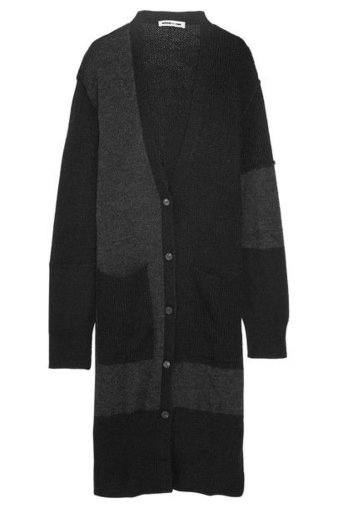 McQ Alexander McQueen - Oversized Patchwork Ribbed-knit Cardigan - Gray