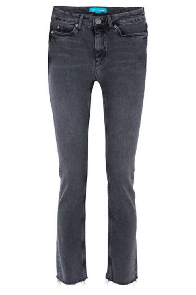 M.i.h Jeans - Daily Frayed High-rise Straight-leg Jeans - Charcoal