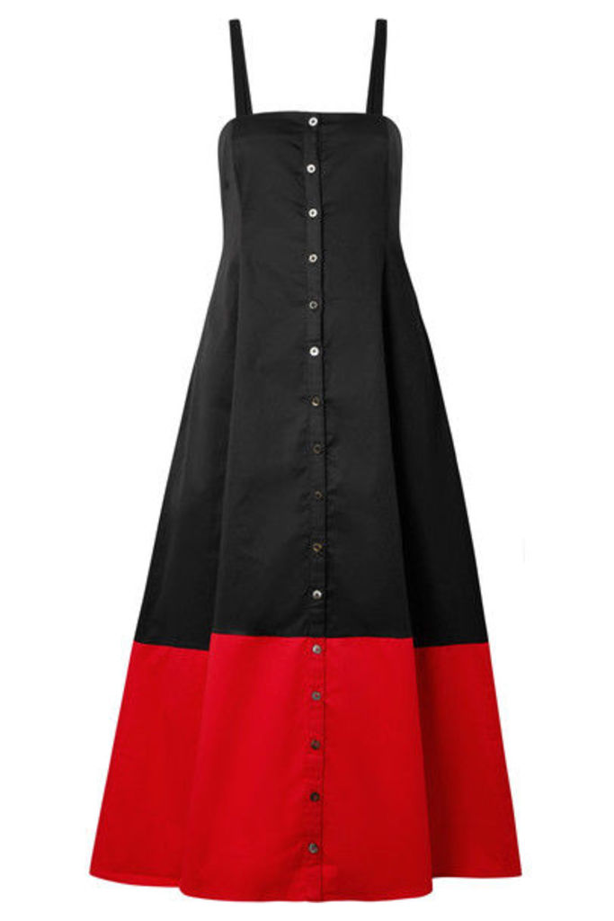 Mara Hoffman - Marina Two-tone Organic Cotton Dress - Black