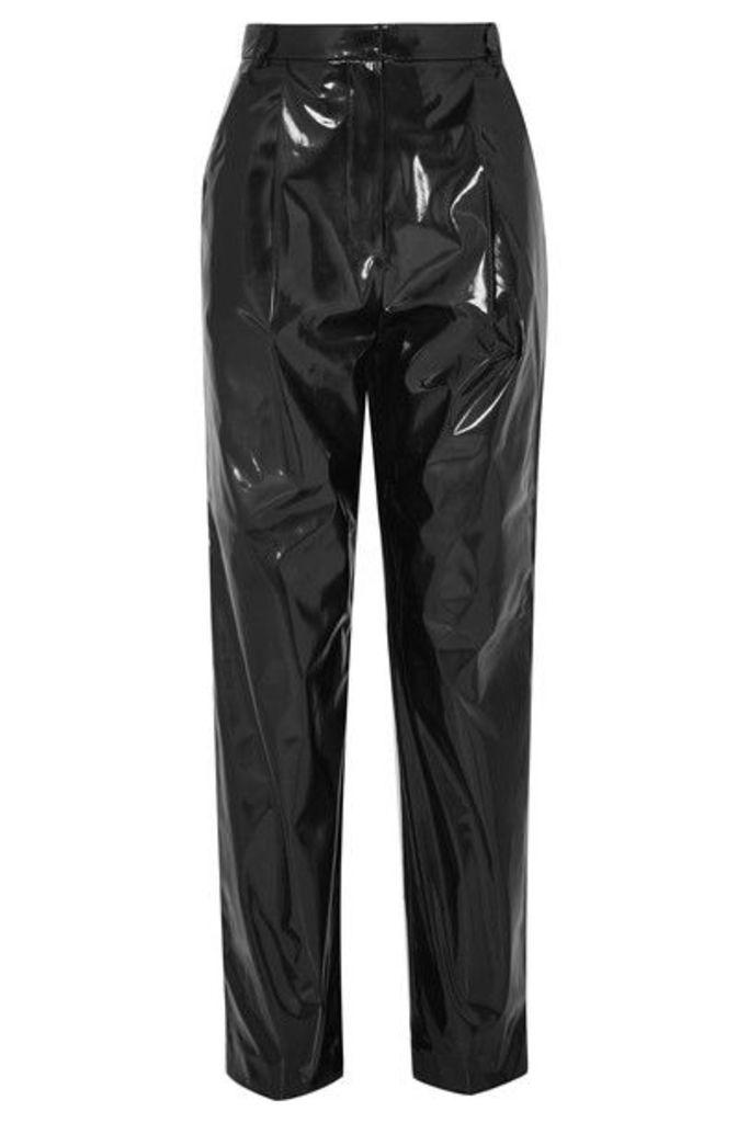 Tibi - Vinyl Tapered Pants - Black