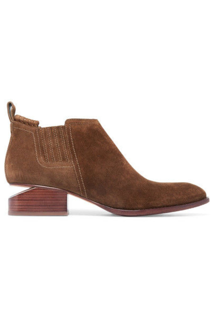 Alexander Wang - Kori Cutout Suede Ankle Boots - Brown