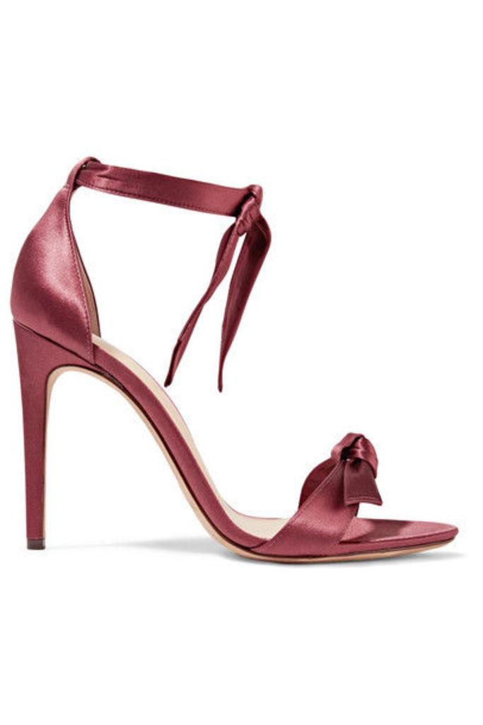 Alexandre Birman - Clarita Bow-embellished Satin Sandals - Claret