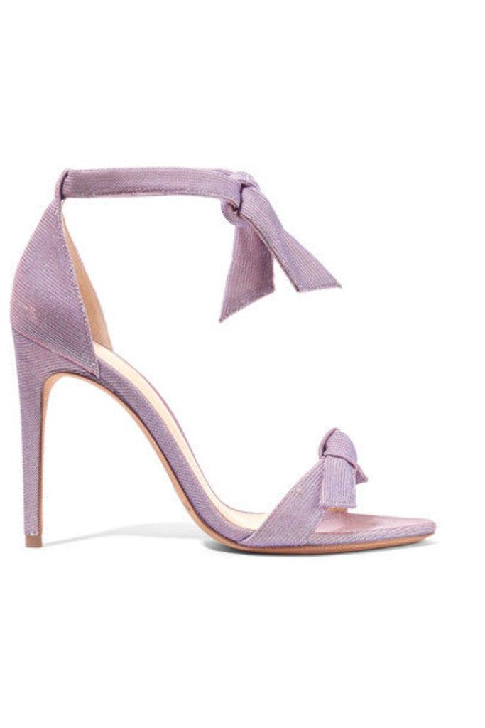Alexandre Birman - Lovely Clarita Bow-embellished Textured-lamé Sandals - Lavender