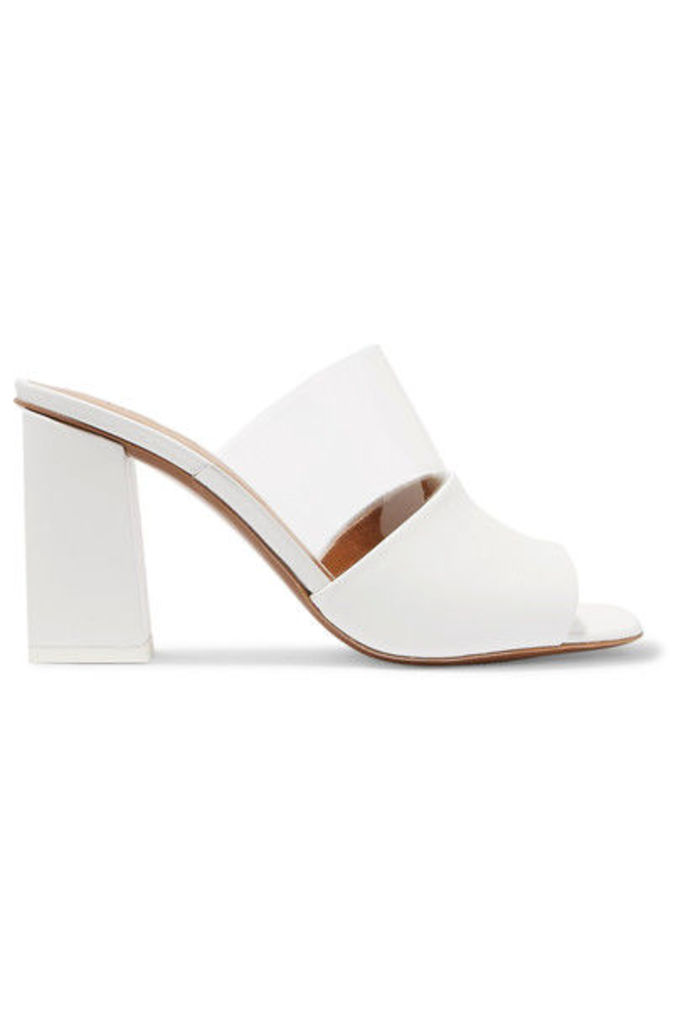 Neous - Benzi Paneled Leather And Perspex Mules - White