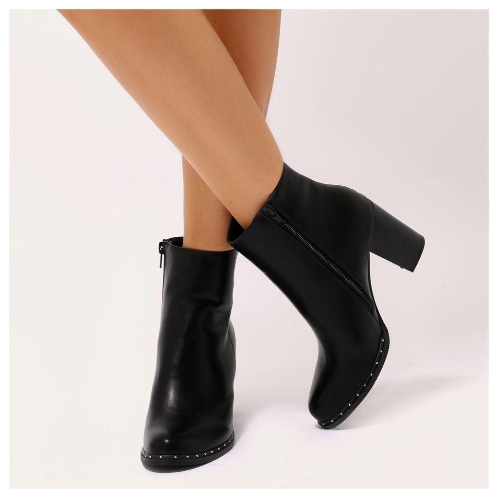 Lynx Studded Chelsea Ankle Boots, Black