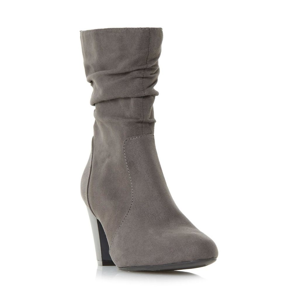 Ronni Ruched Heeled Calf Boot