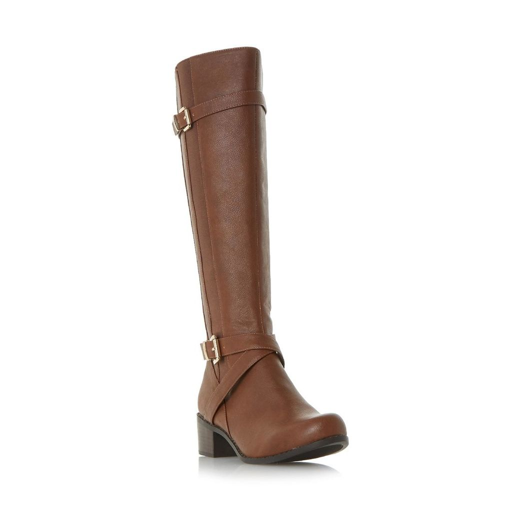 Tuscany Buckle Strap Knee High Boot