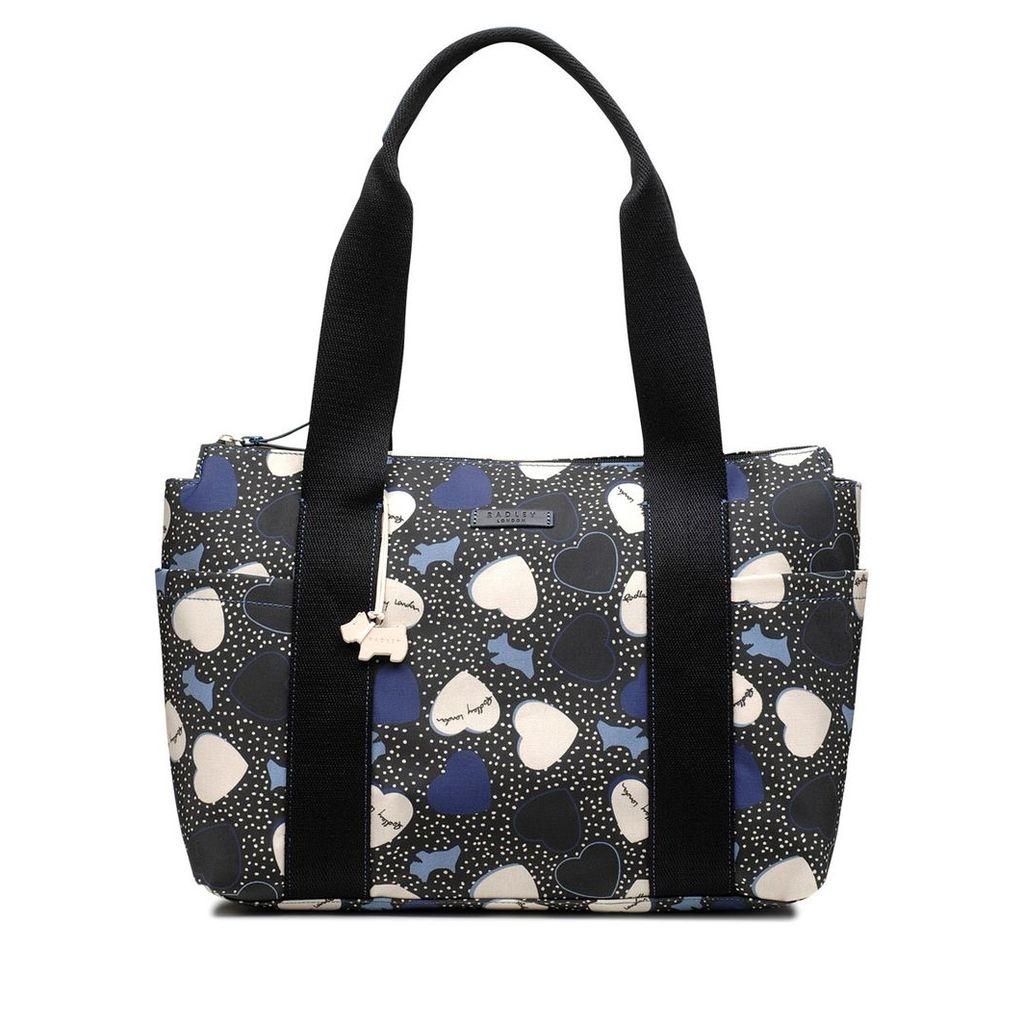 Radley London Hearts Oilskin Medium Zip-Top Tote Bag