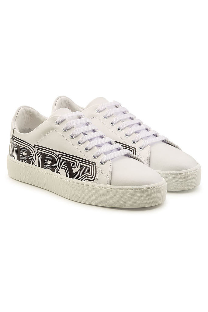 Burberry Westford Printed Leather Sneakers