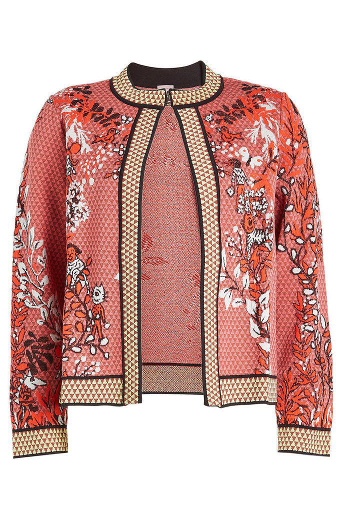 M Missoni Intarsia Jacket with Cotton and Wool