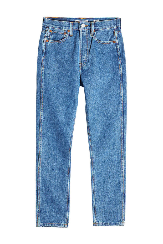 RE/DONE Double Needle Cropped Jeans