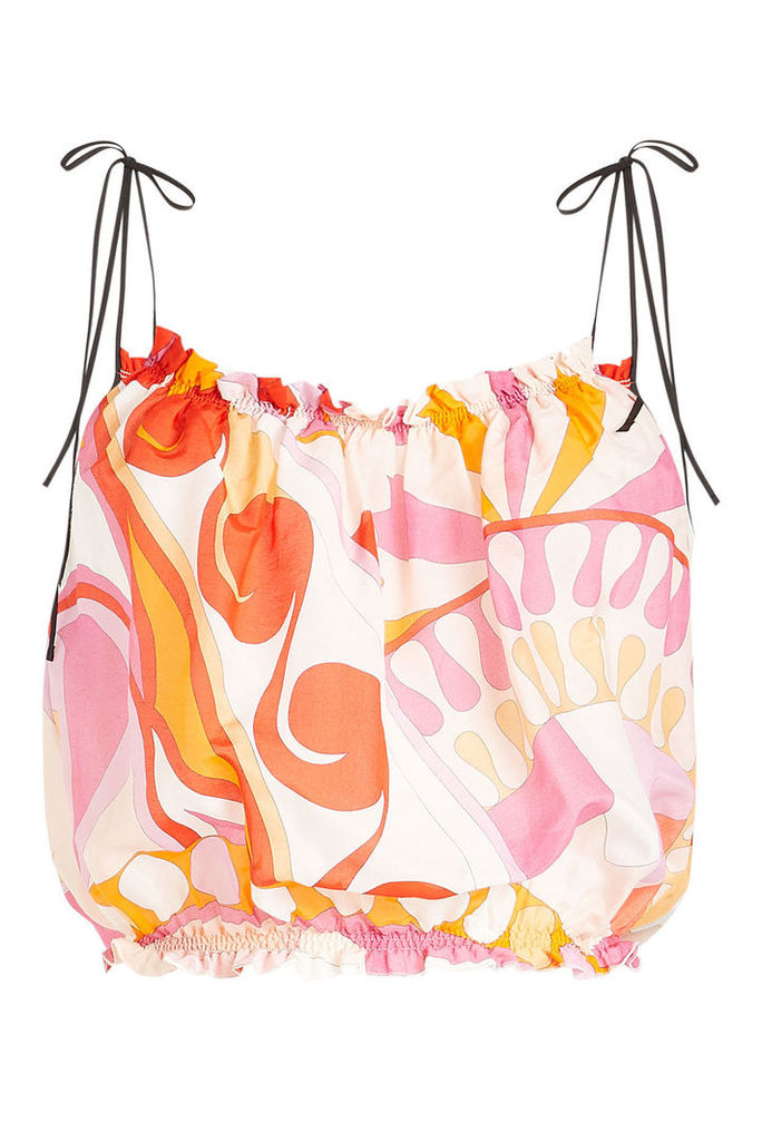 Emilio Pucci Printed Cropped Top in Cotton and Silk