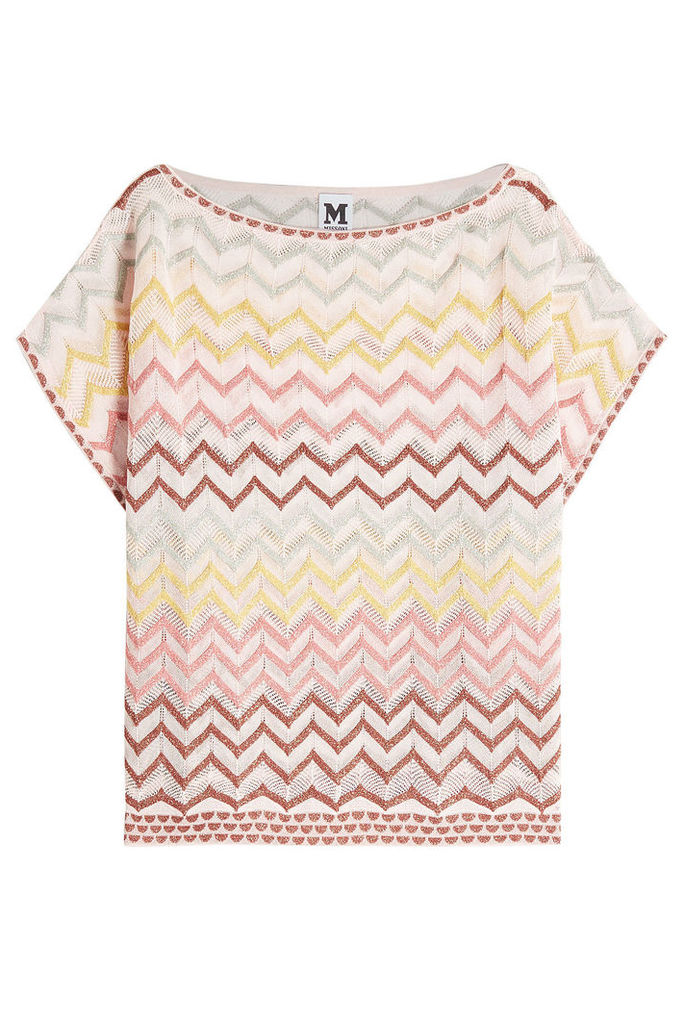 M Missoni Knit Top with Cotton and Metallic Thread