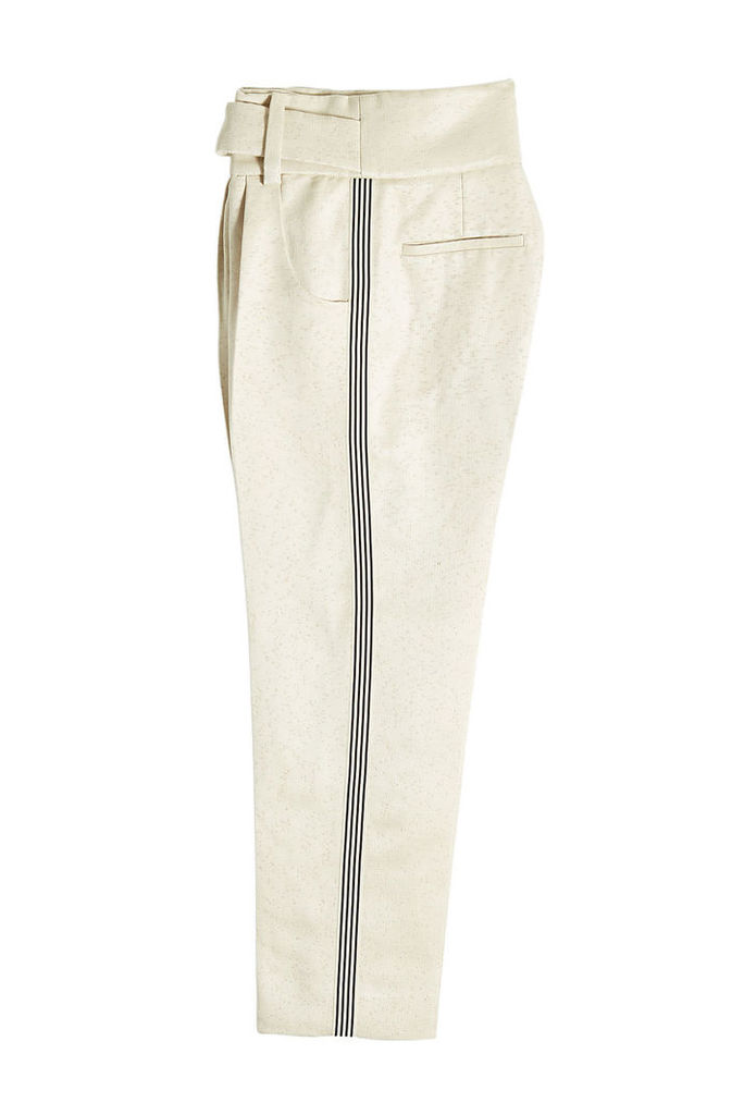Petar Petrov Hoa High-Waisted Pants with Silk and Linen
