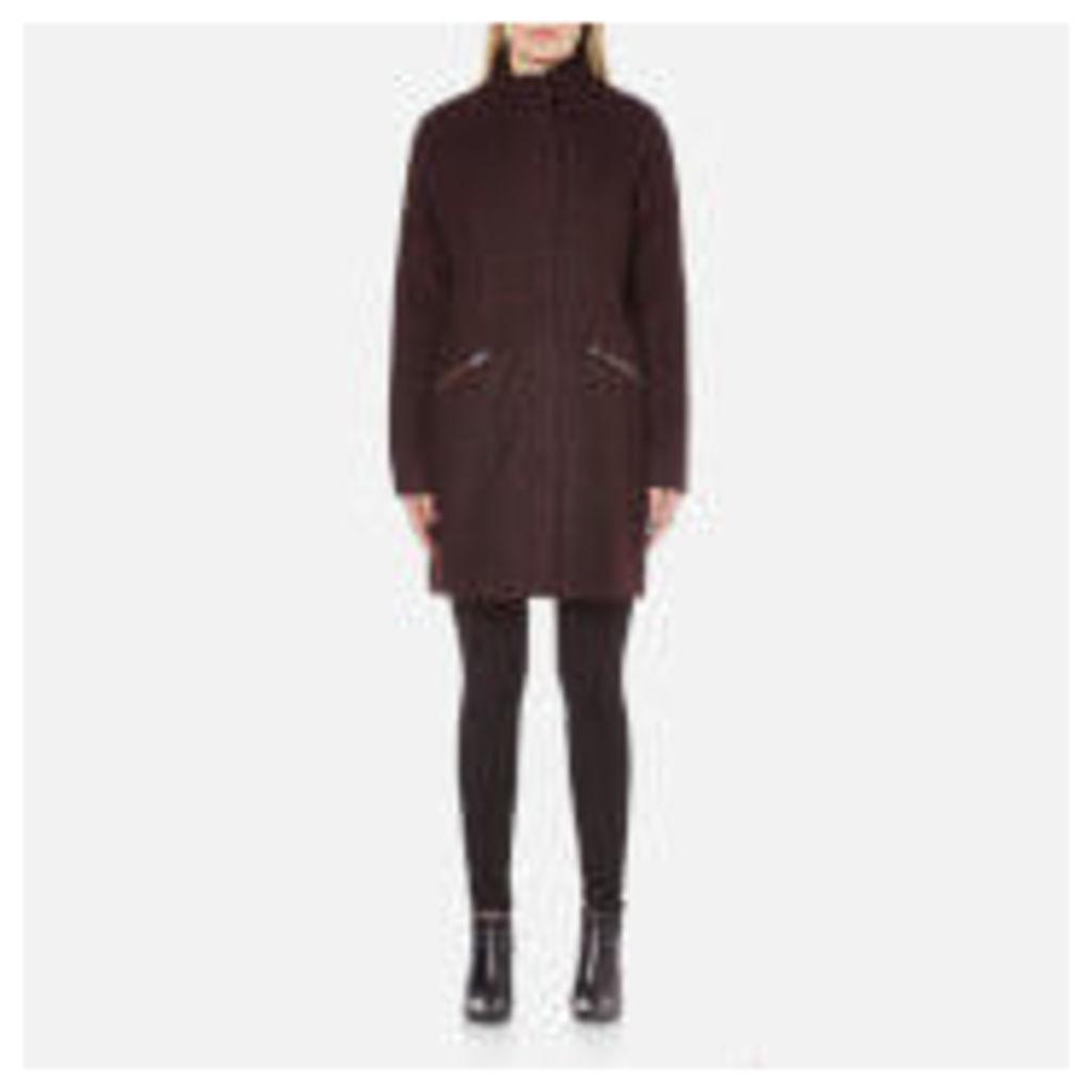Vero Moda Women's Ciri Energy 3/4 Wool Jacket - Decadent Chocolate - M - Burgundy