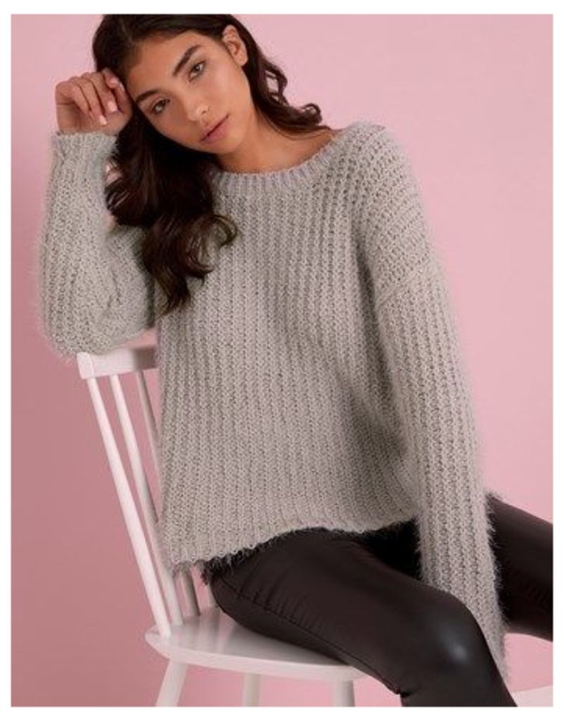 Sunshine Soul Textured Fluffy Jumper