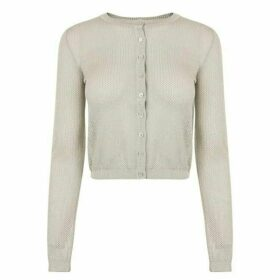 M Missoni Metallic Cropped Cardigan