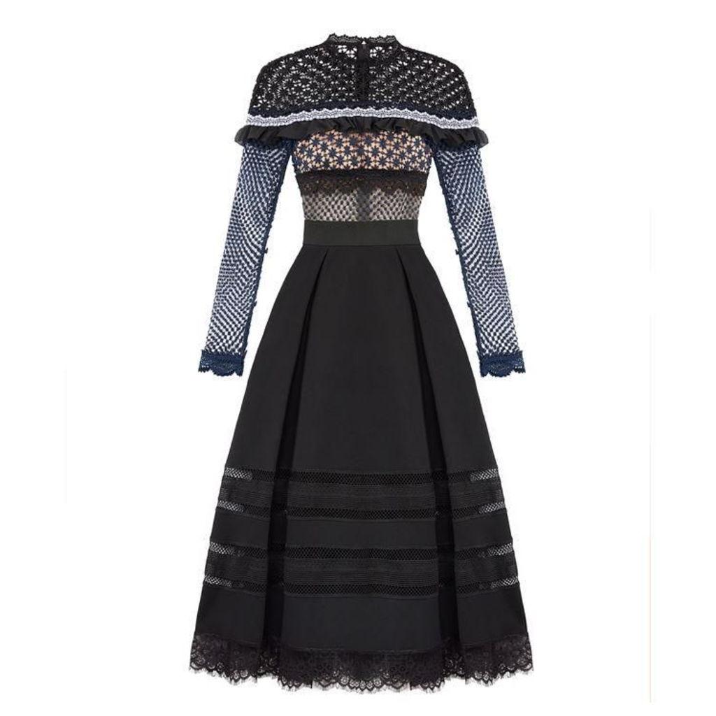 SELF PORTRAIT Bellis Long Sleeved Dress