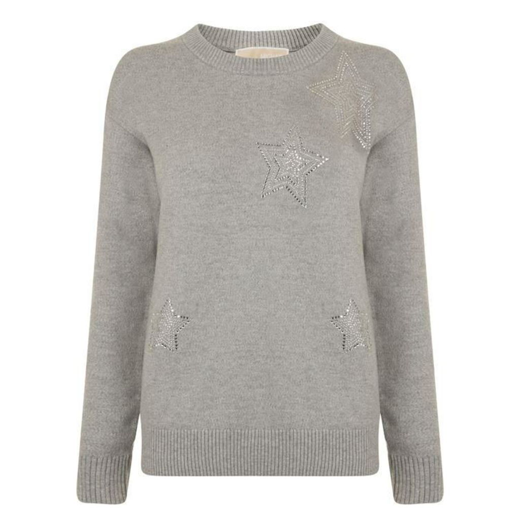 MICHAEL MICHAEL KORS Star Embellished Knitted Jumper
