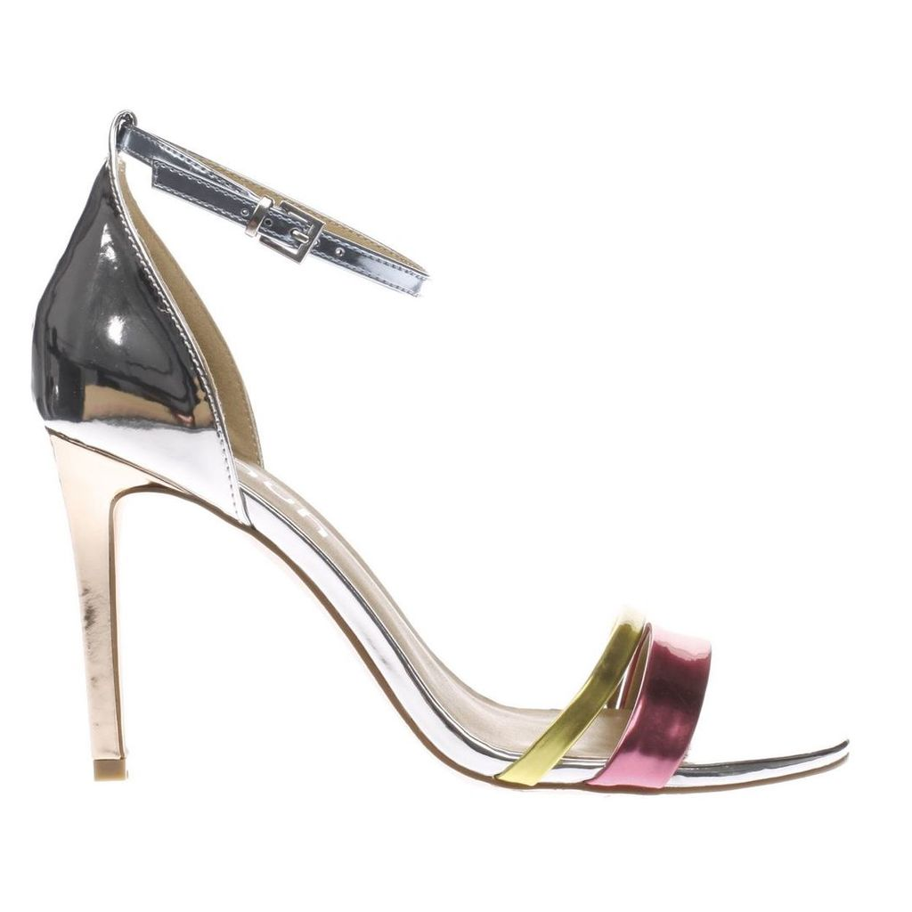 schuh silver & pink flashy high heels