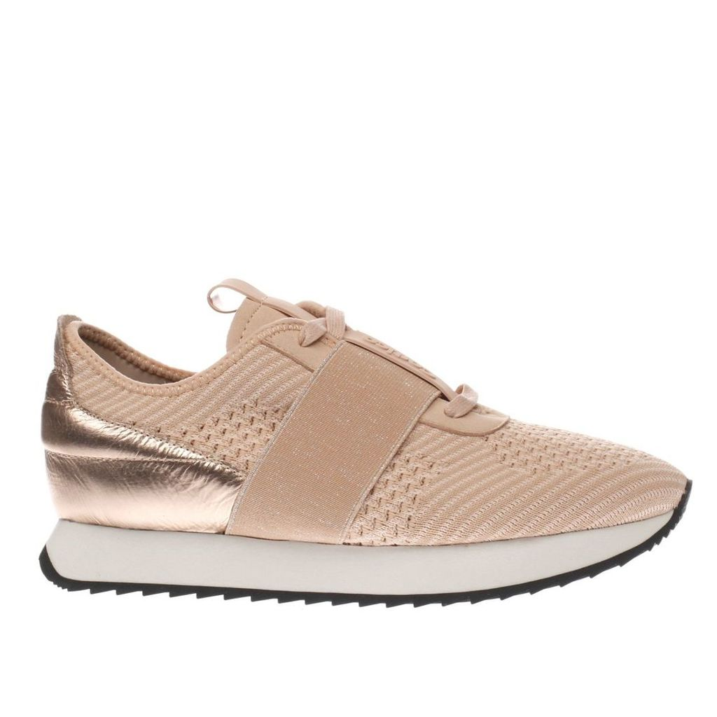 cortica pale pink racer knit trainers