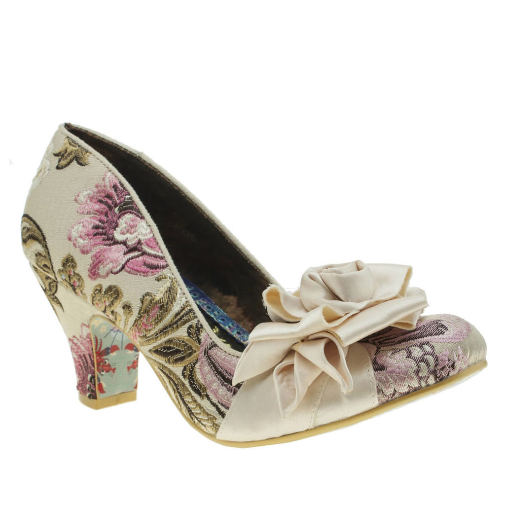 irregular choice stone yolanda rosette low heels