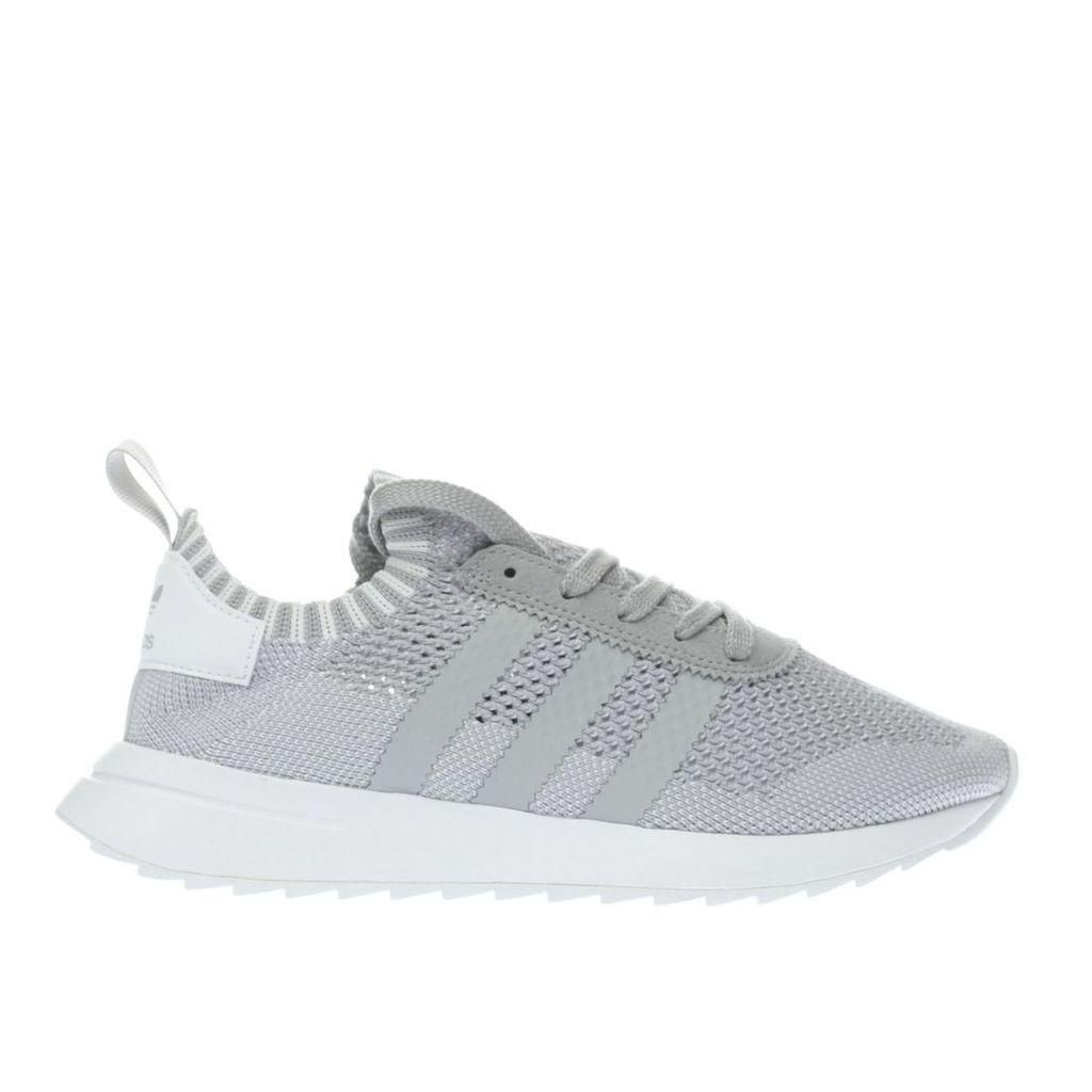 adidas light grey primeknit flb trainers