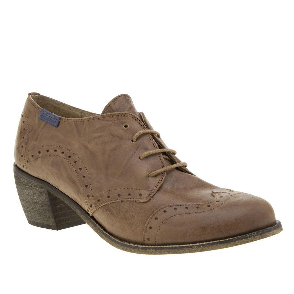 red or dead tan loretta low heels