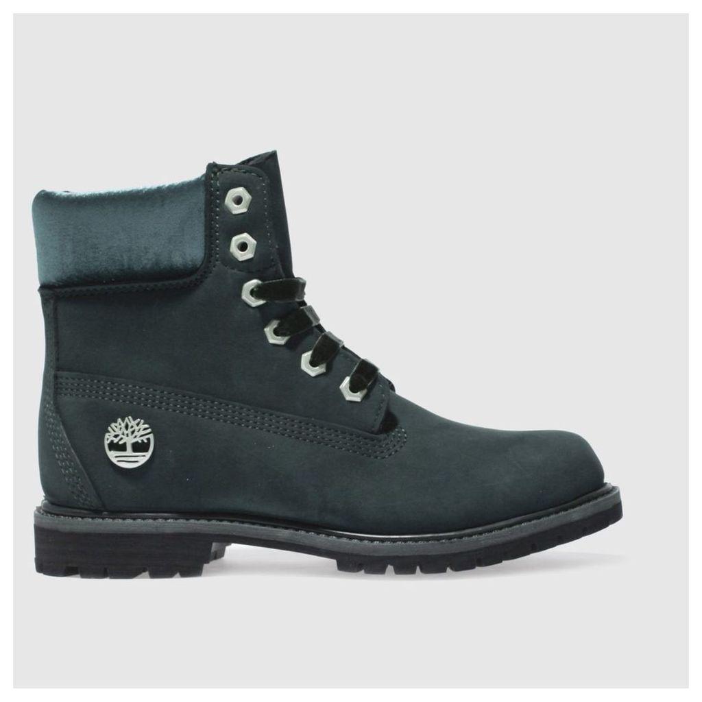 timberland dark green 6 inch premium jewel boots