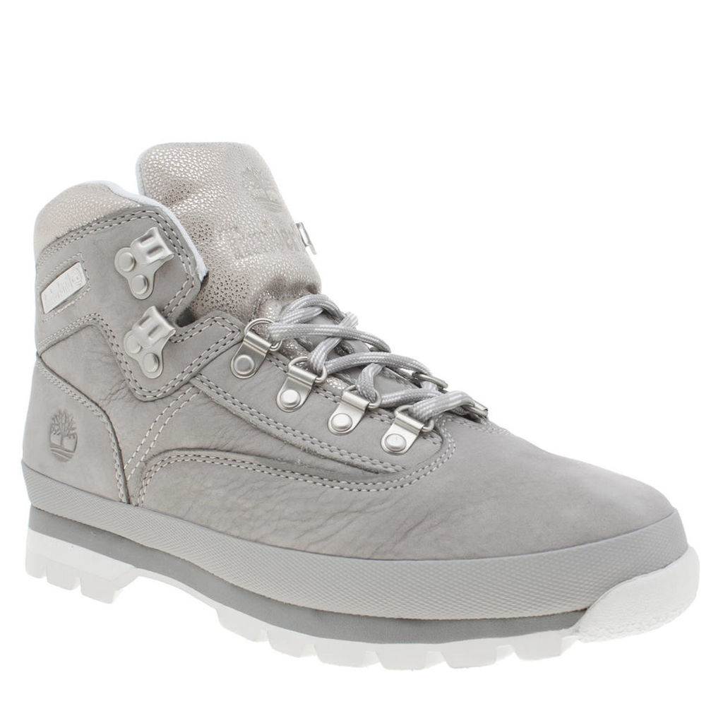 timberland light grey euro hiker boots