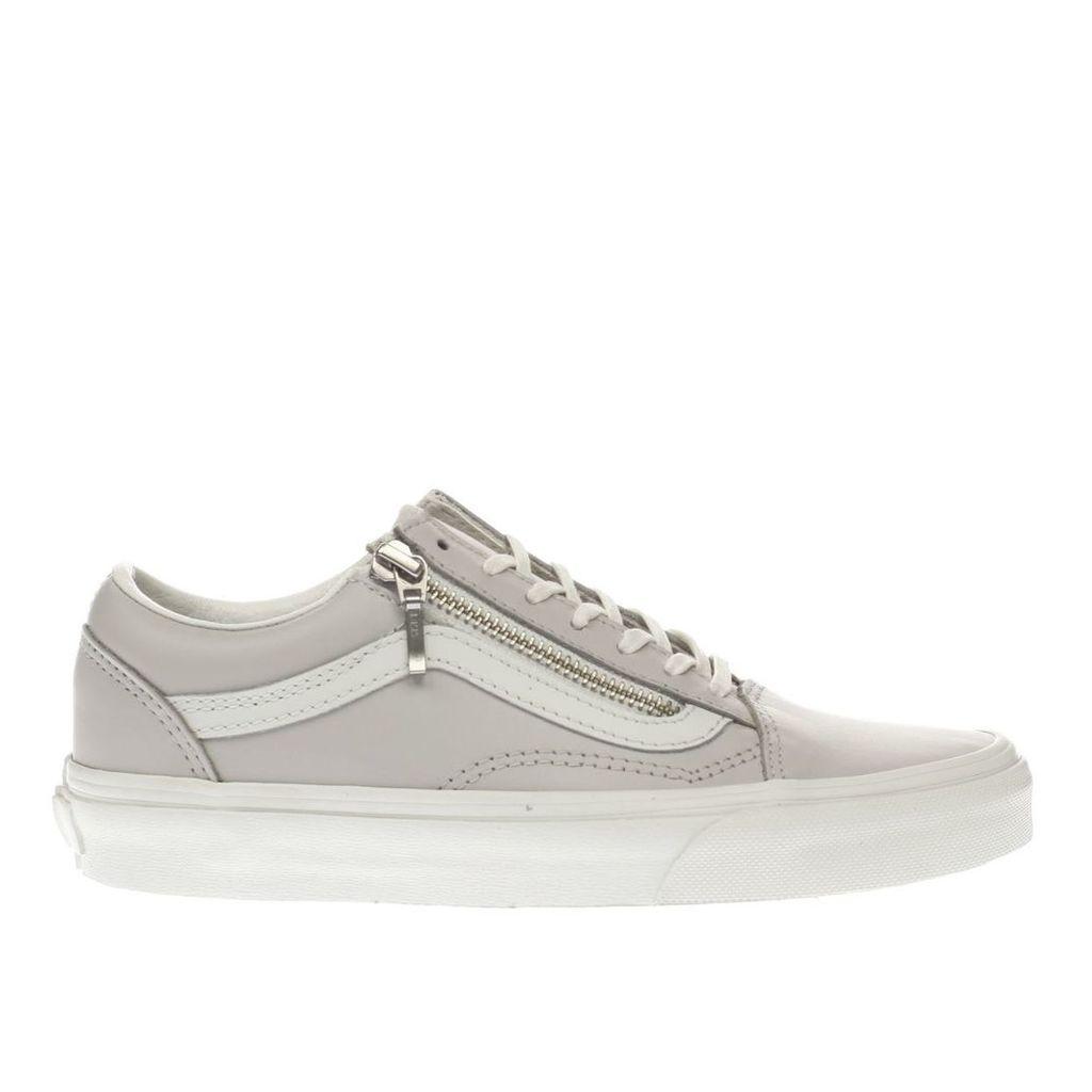 vans lilac old skool zip trainers