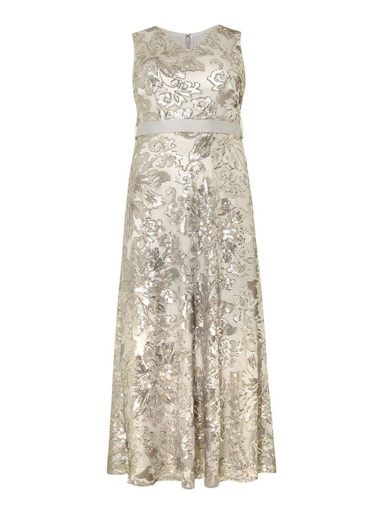 Studio 8 Venus Maxi Dress, Silver Silverlic