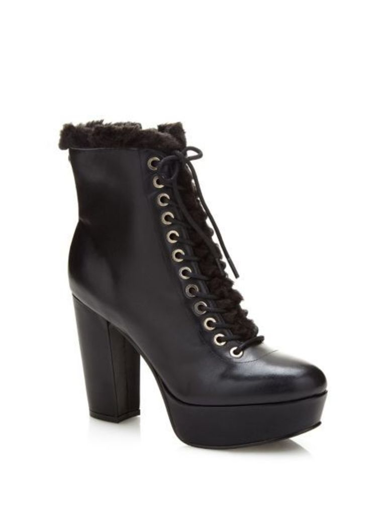 Guess Loyal Leather Ankle Boot