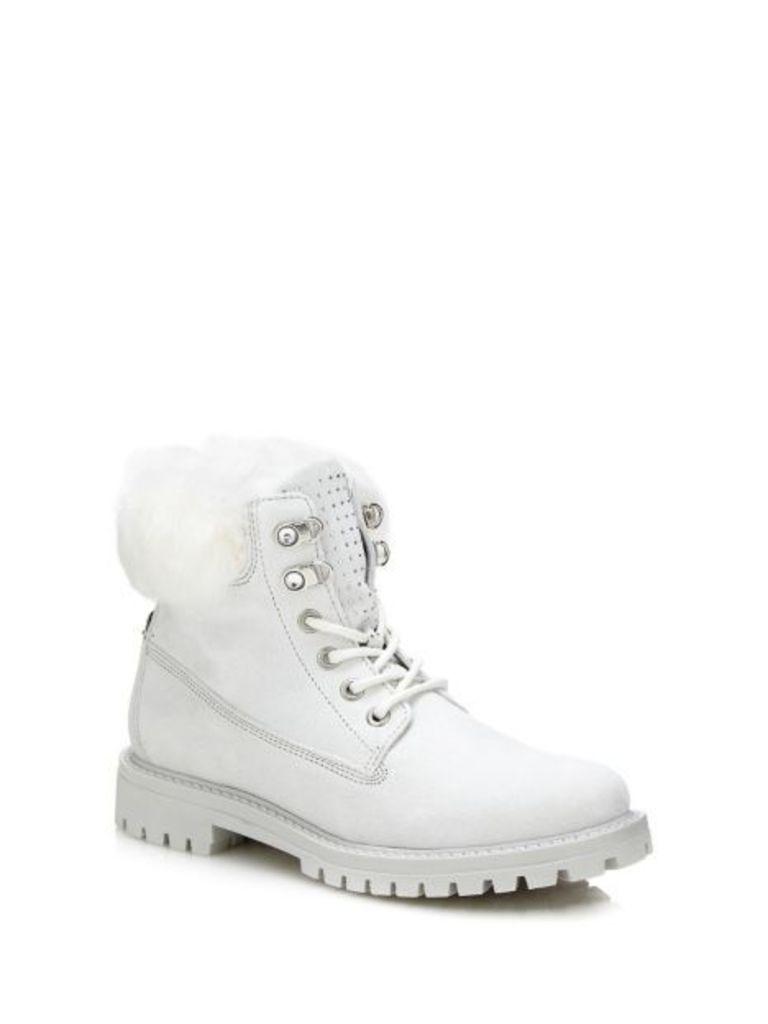 Guess Tamara Low Boot With Faux Fur