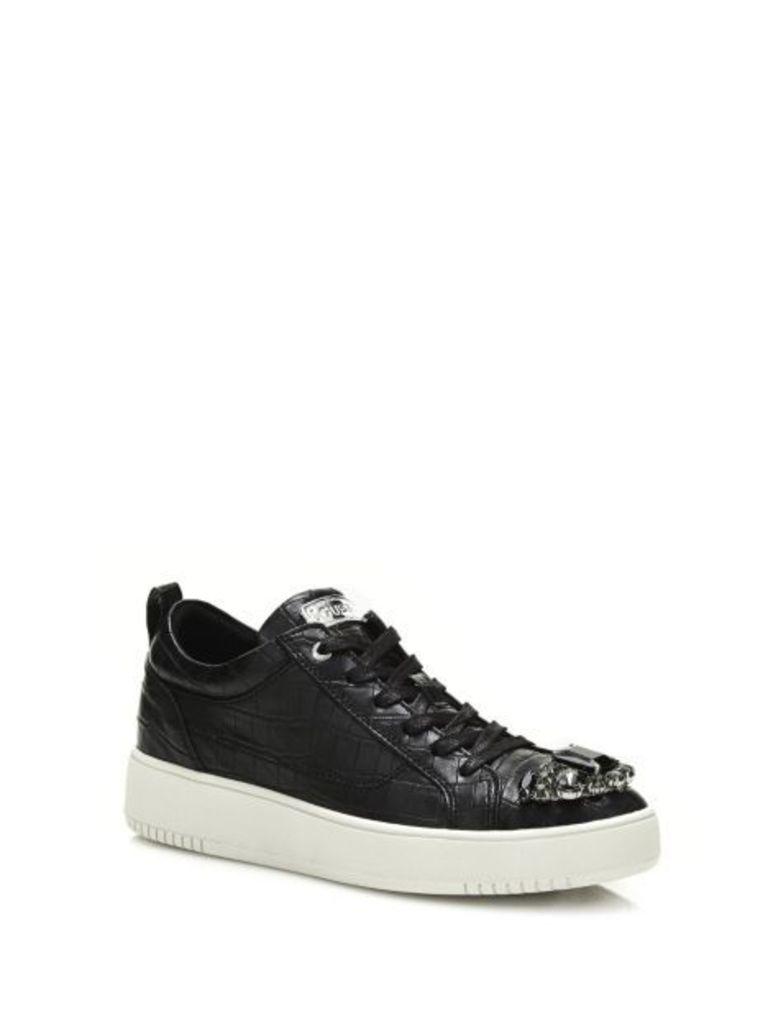 Guess Dafne Low Croc Print Sneaker