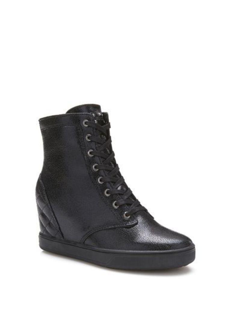 Guess Felipa Coated-Look Wedge Sneaker