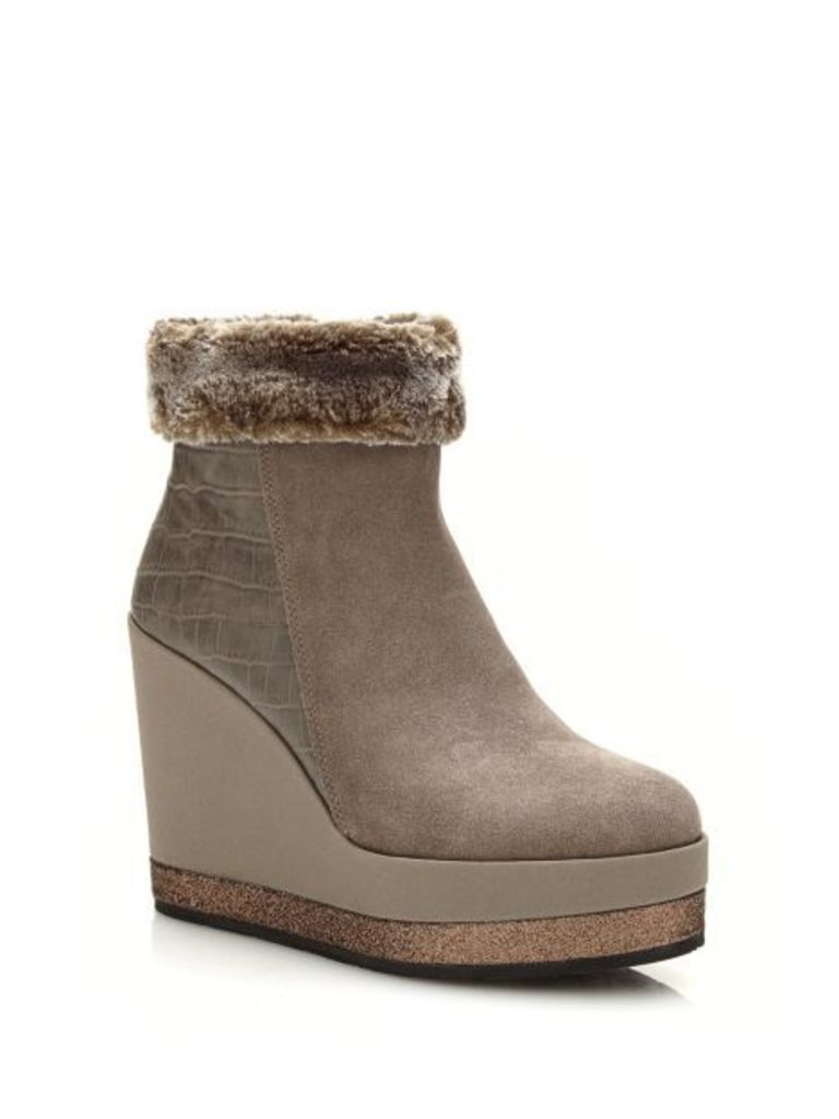 Guess Lea Low Boot With Faux Fur