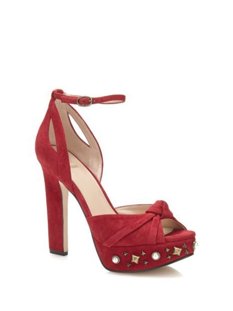 Guess Kenzie Leather Jewel Sandal