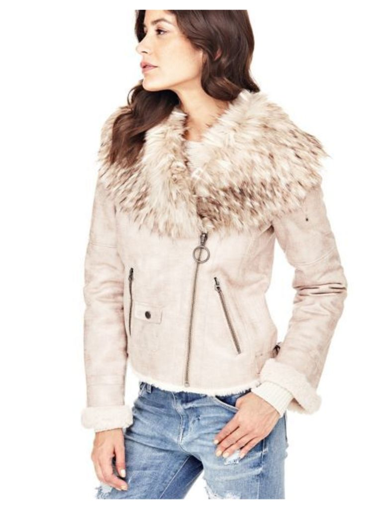 Guess Faux Fur Collar Jacket